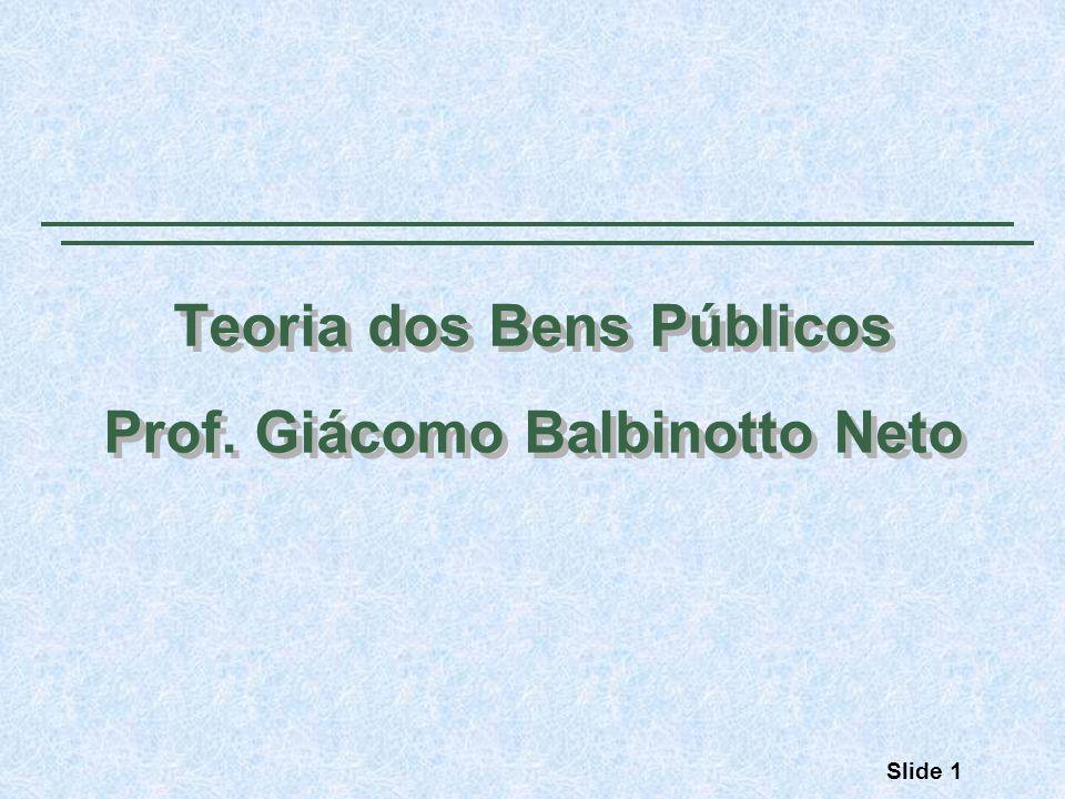 Teoria dos Bens Públicos Prof. Giácomo Balbinotto Neto