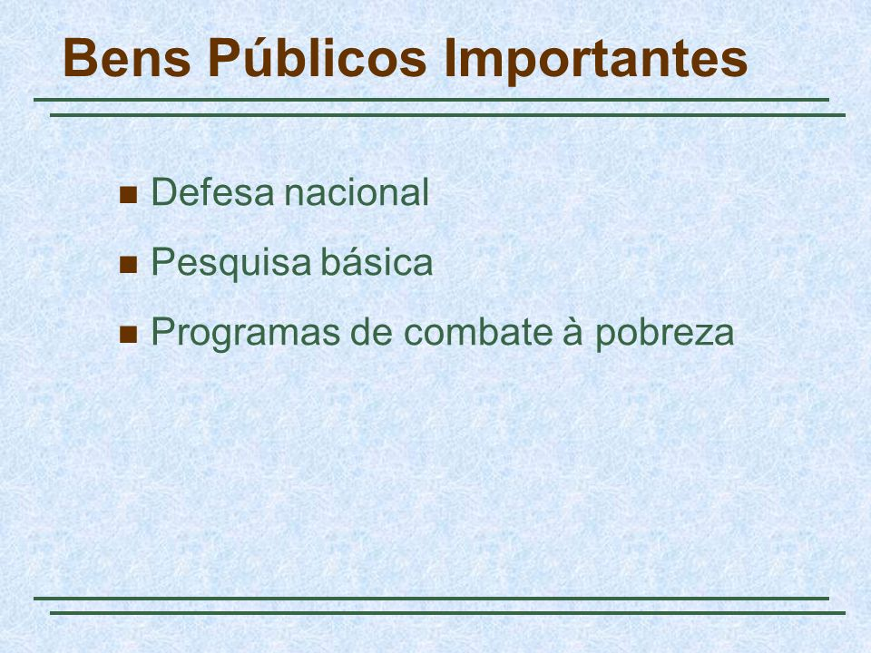 Bens Públicos Importantes