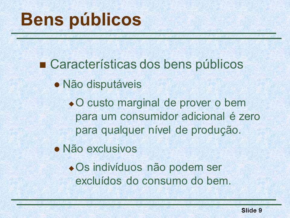 Bens públicos Características dos bens públicos Não disputáveis