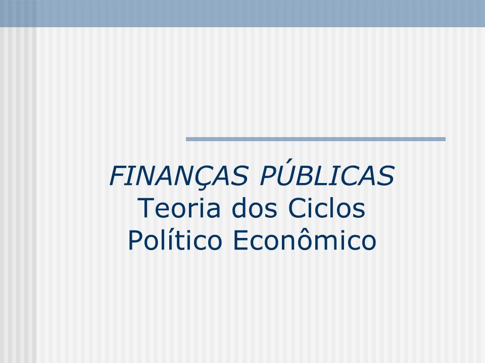 FINANÇAS PÚBLICAS Teoria dos Ciclos Político Econômico