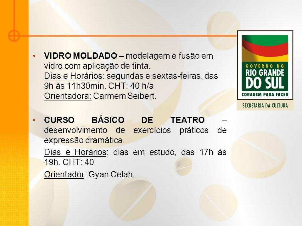 VIDRO MOLDADO – modelagem e fusão em vidro com aplicação de tinta