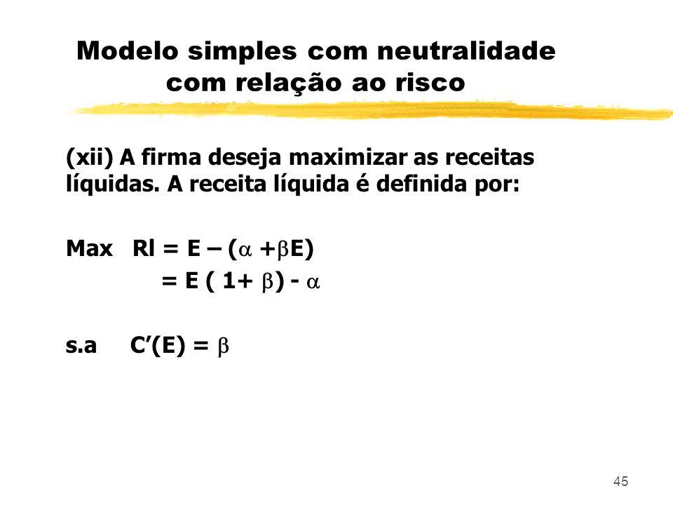 Modelo simples com neutralidade com relação ao risco