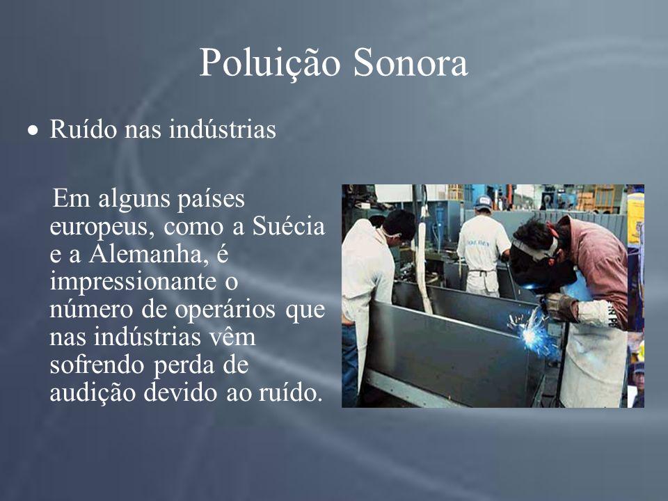 Poluição Sonora Ruído nas indústrias