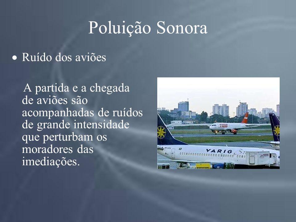 Poluição Sonora Ruído dos aviões
