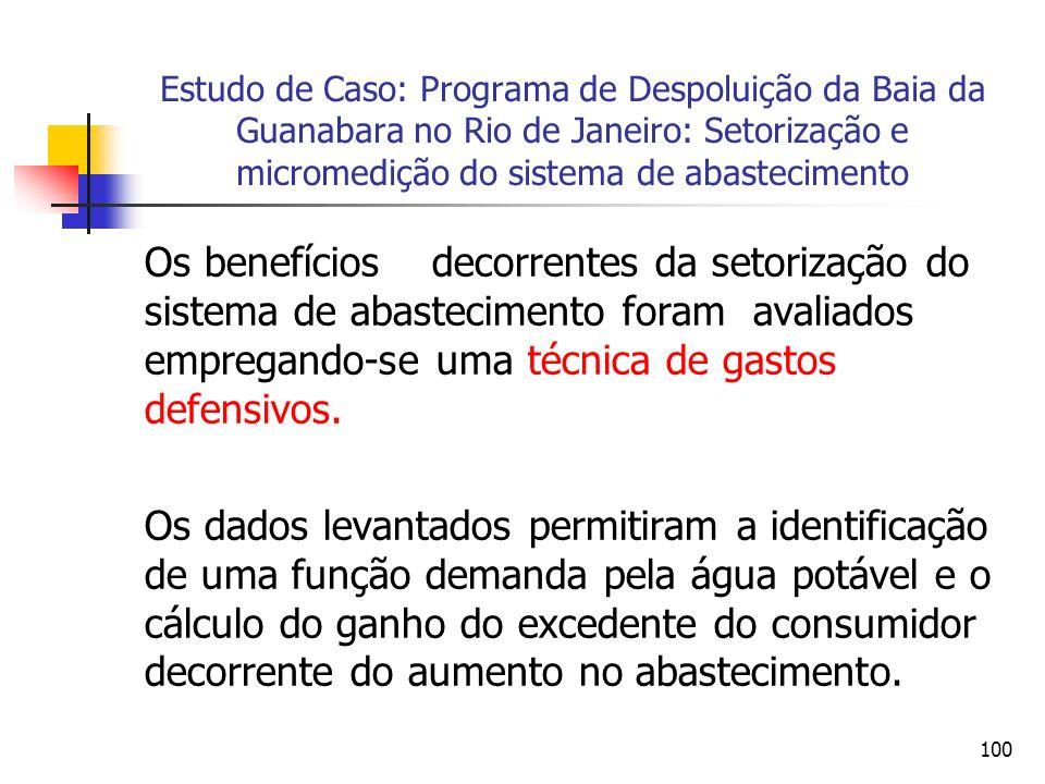 Estudo de Caso: Programa de Despoluição da Baia da Guanabara no Rio de Janeiro: Setorização e micromedição do sistema de abastecimento