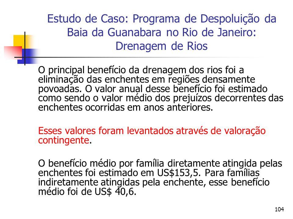 Estudo de Caso: Programa de Despoluição da Baia da Guanabara no Rio de Janeiro: Drenagem de Rios