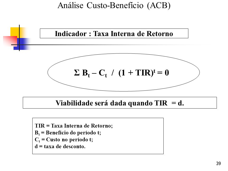 Análise Custo-Benefício (ACB)