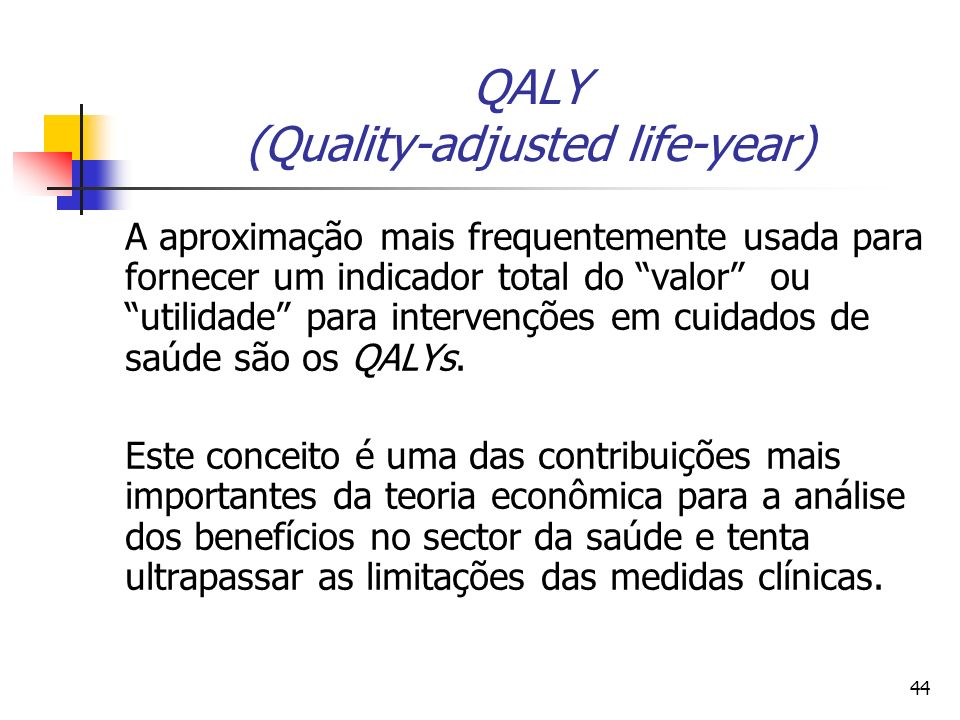 QALY (Quality-adjusted life-year)
