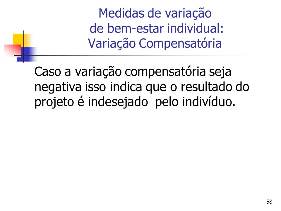 Medidas de variação de bem-estar individual: Variação Compensatória