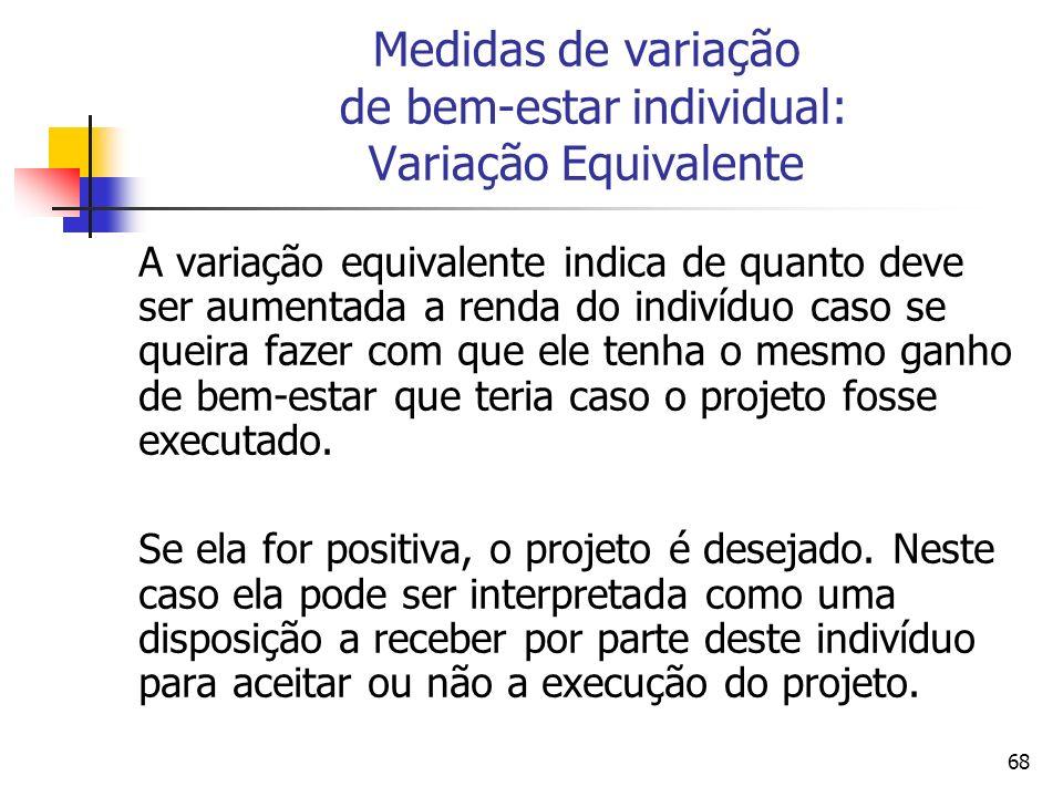 Medidas de variação de bem-estar individual: Variação Equivalente