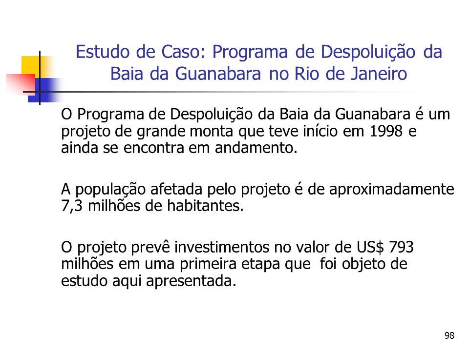 Estudo de Caso: Programa de Despoluição da Baia da Guanabara no Rio de Janeiro