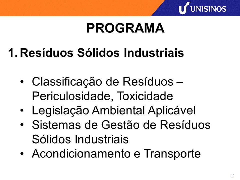 PROGRAMA Resíduos Sólidos Industriais