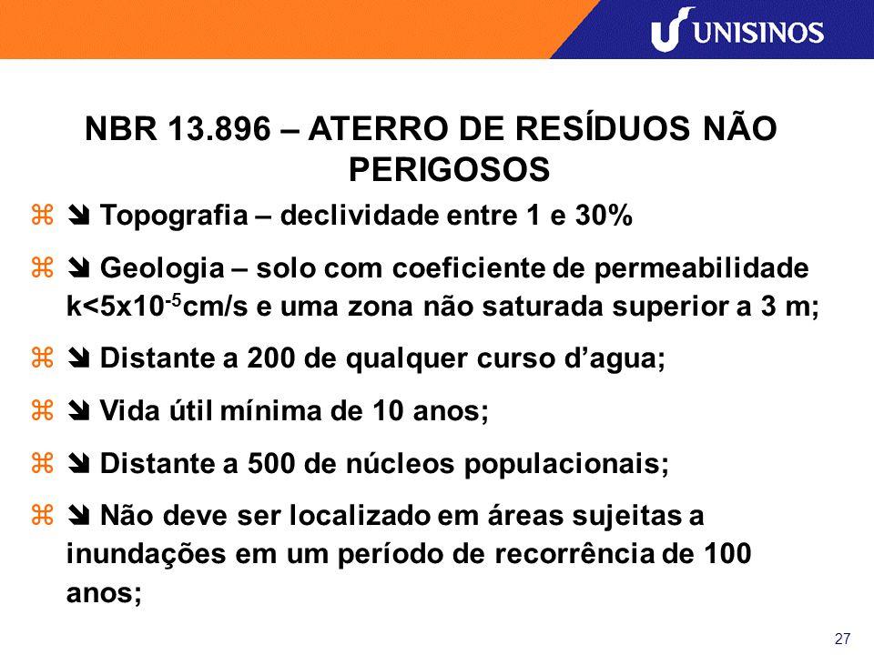 NBR 13.896 – ATERRO DE RESÍDUOS NÃO PERIGOSOS