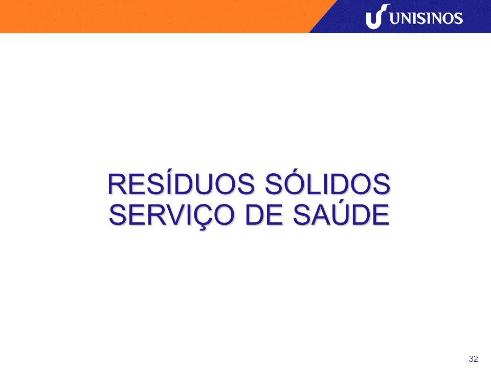 RESÍDUOS SÓLIDOS SERVIÇO DE SAÚDE