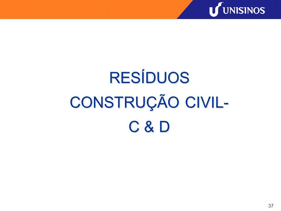RESÍDUOS CONSTRUÇÃO CIVIL- C & D