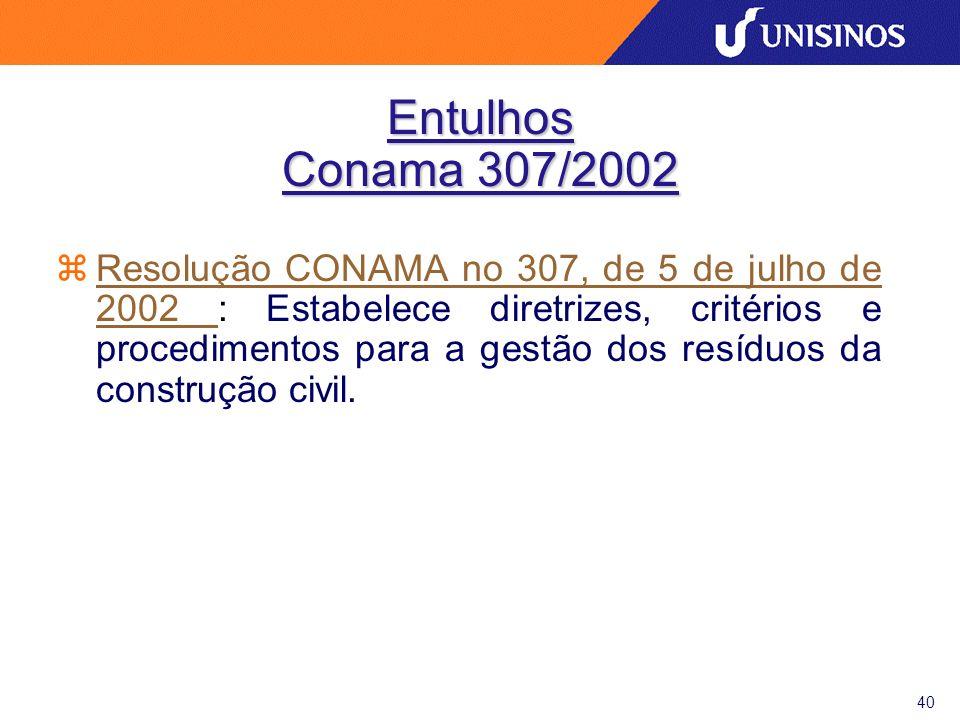 Entulhos Conama 307/2002