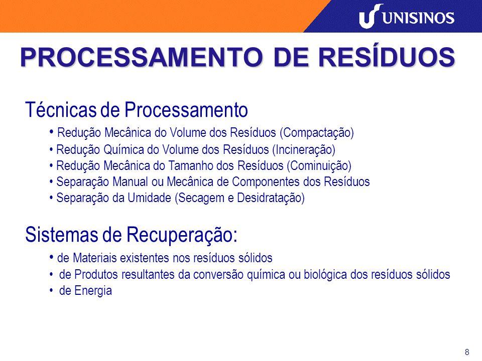 PROCESSAMENTO DE RESÍDUOS
