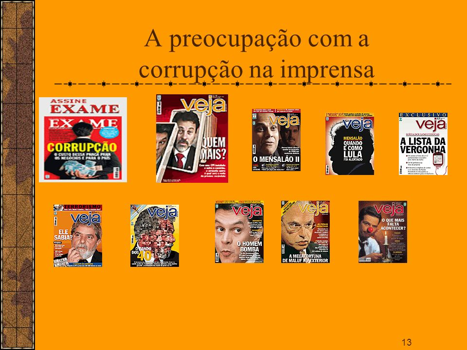A preocupação com a corrupção na imprensa