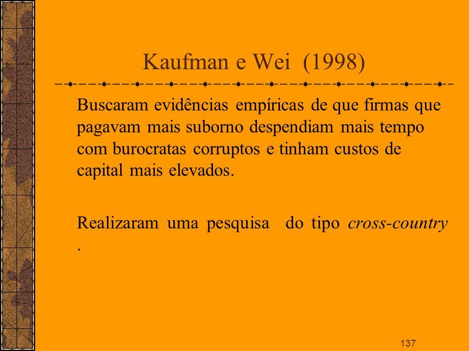 Kaufman e Wei (1998)