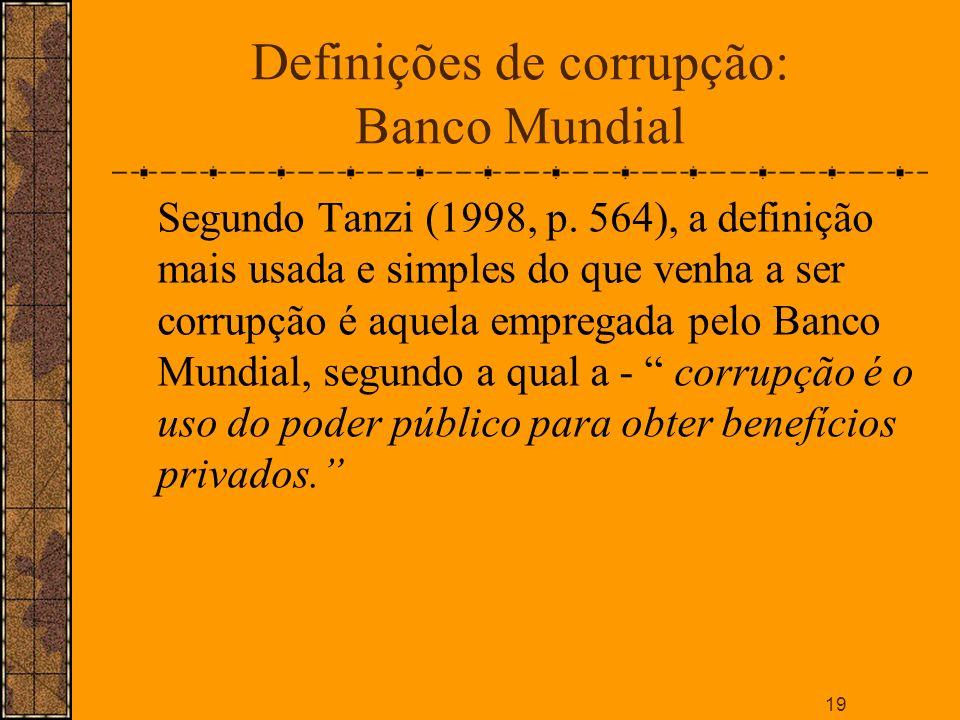 Definições de corrupção: Banco Mundial
