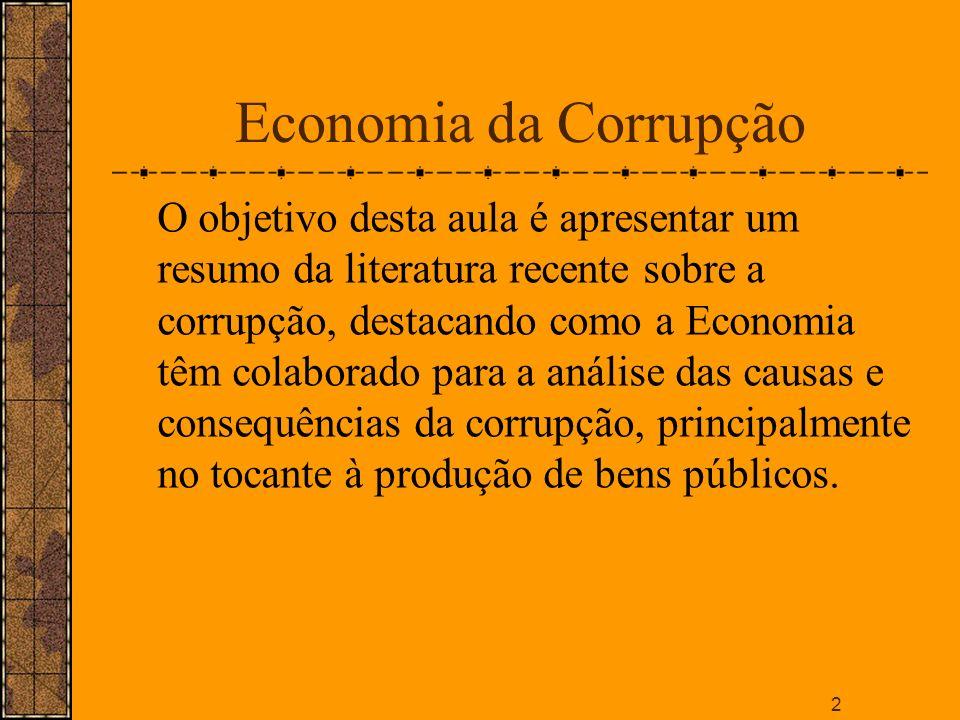 Economia da Corrupção