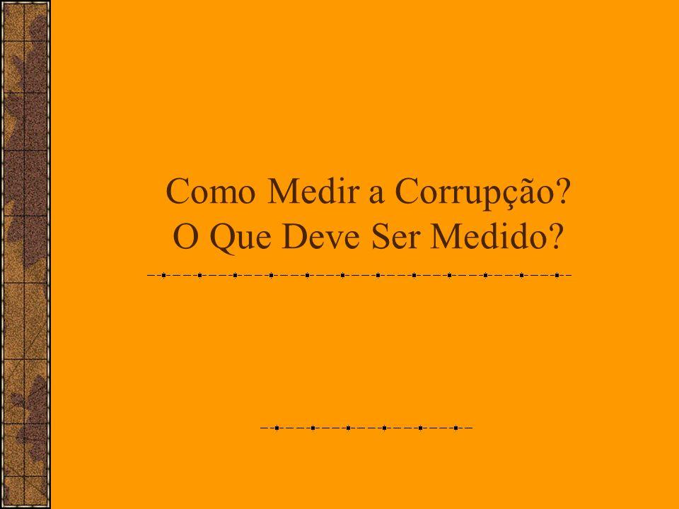 Como Medir a Corrupção O Que Deve Ser Medido