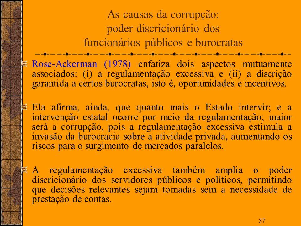 As causas da corrupção: poder discricionário dos funcionários públicos e burocratas