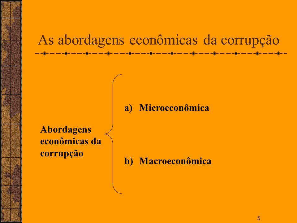 As abordagens econômicas da corrupção