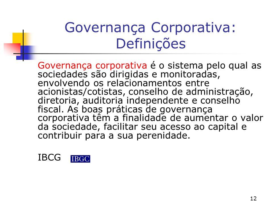 Governança Corporativa: Definições