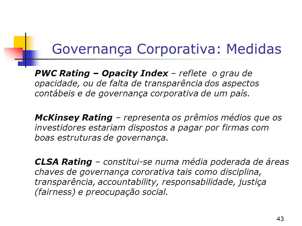Governança Corporativa: Medidas