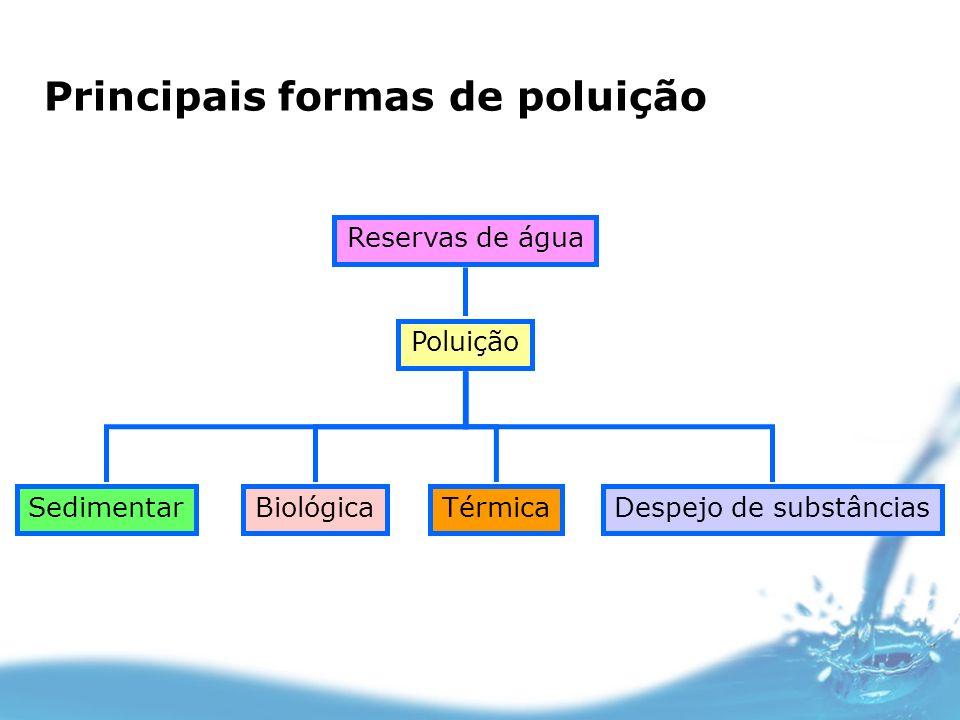 Principais formas de poluição