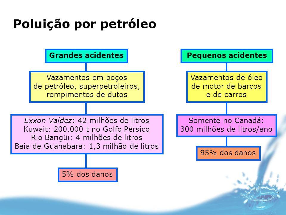 Poluição por petróleo Grandes acidentes