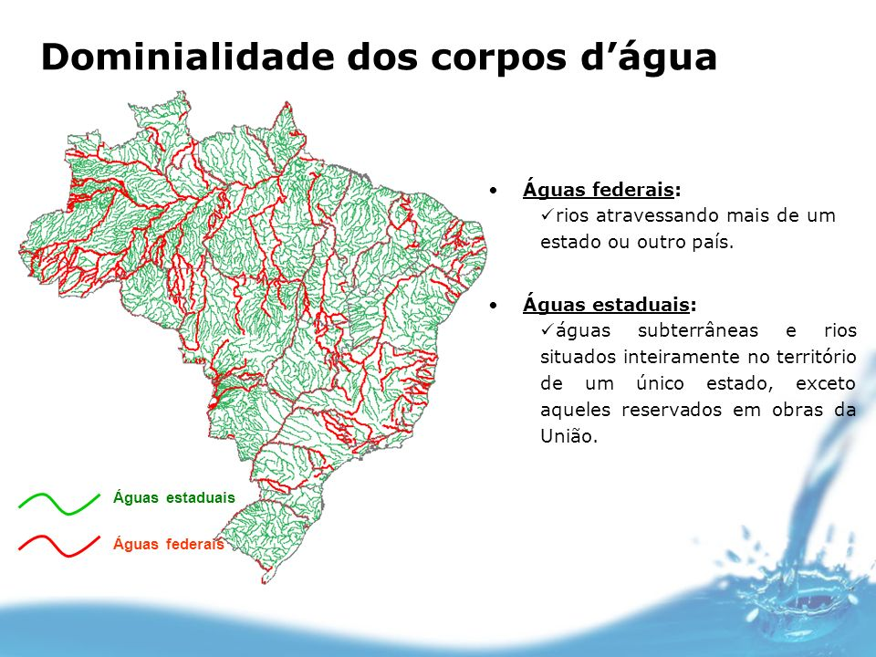 Dominialidade dos corpos d'água
