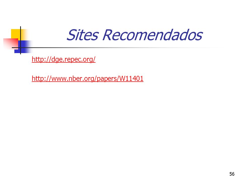 Sites Recomendados http://dge.repec.org/