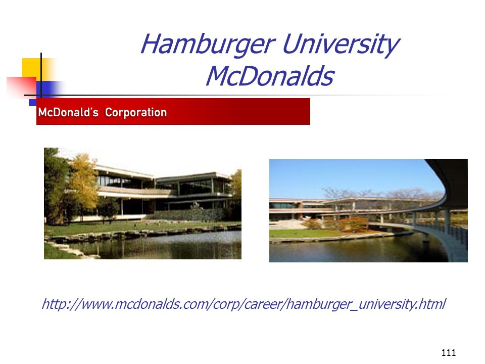 Hamburger University McDonalds