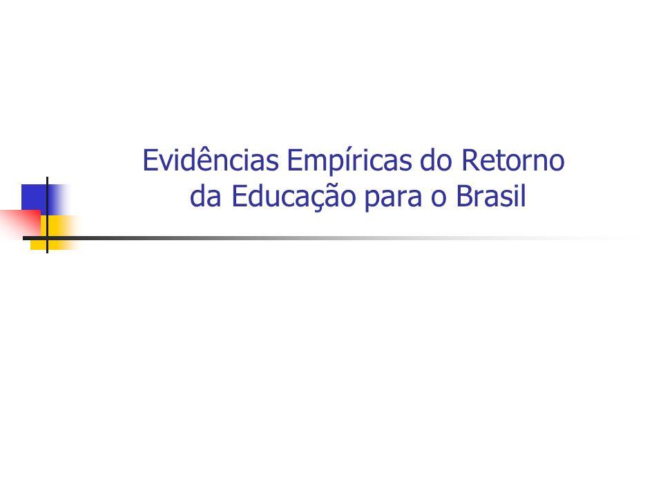 Evidências Empíricas do Retorno da Educação para o Brasil