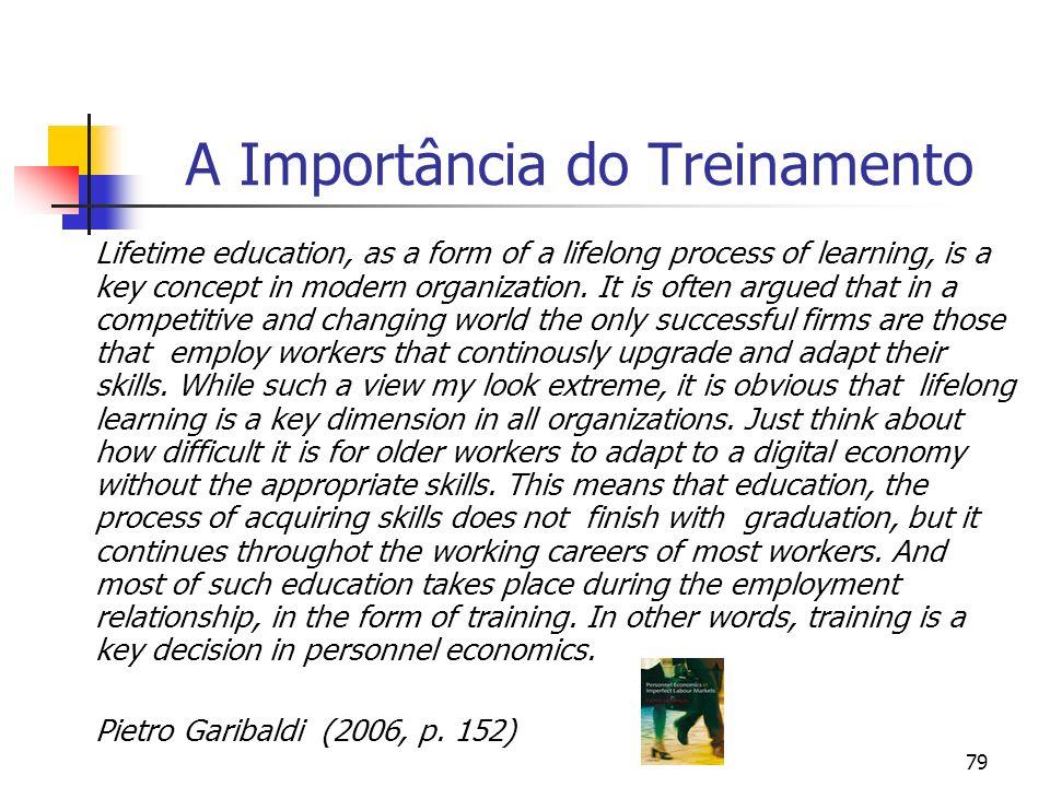 A Importância do Treinamento