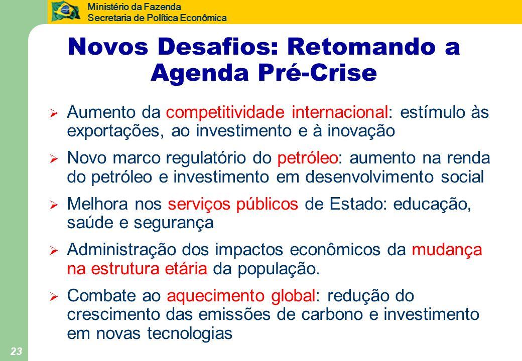 Novos Desafios: Retomando a Agenda Pré-Crise