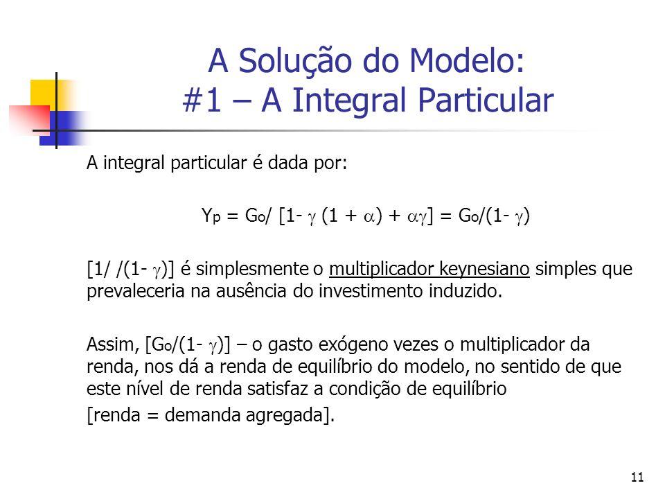A Solução do Modelo: #1 – A Integral Particular