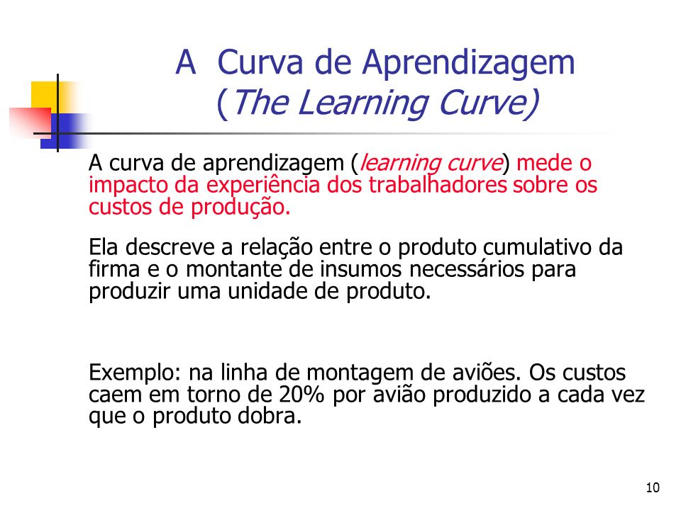 A Curva de Aprendizagem (The Learning Curve)