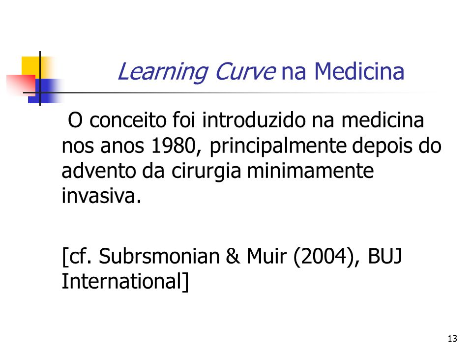 Learning Curve na Medicina