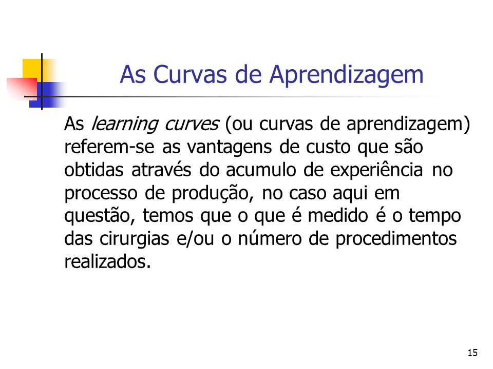 As Curvas de Aprendizagem