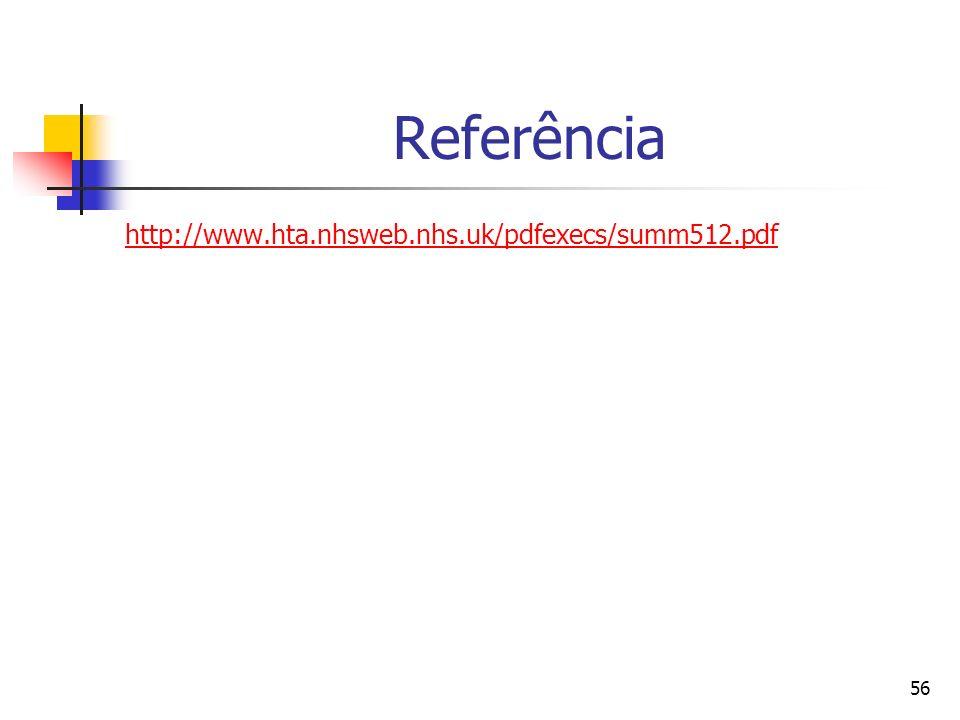 Referência http://www.hta.nhsweb.nhs.uk/pdfexecs/summ512.pdf