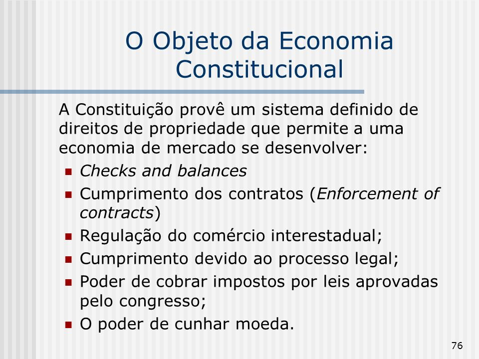 O Objeto da Economia Constitucional