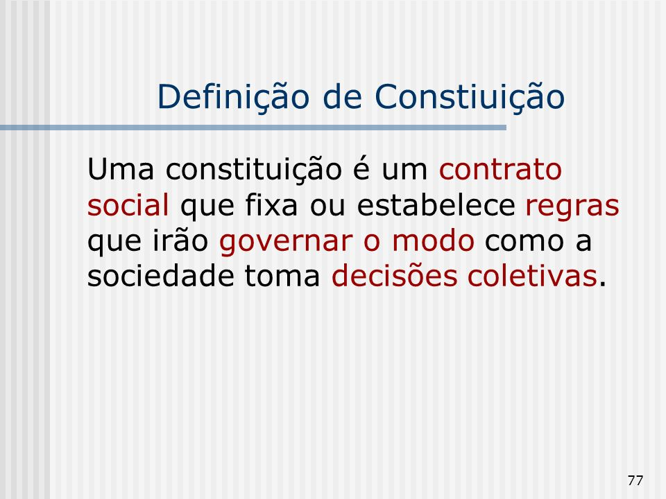 Definição de Constiuição