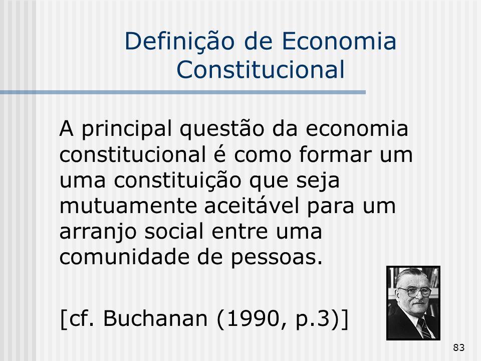 Definição de Economia Constitucional