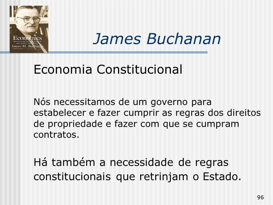 James Buchanan Economia Constitucional