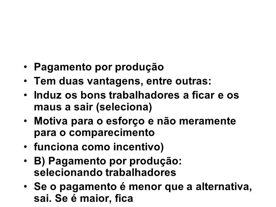 Pagamento por produção