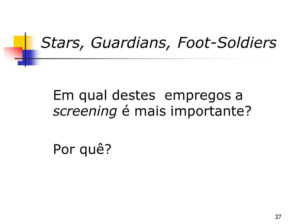 Stars, Guardians, Foot-Soldiers