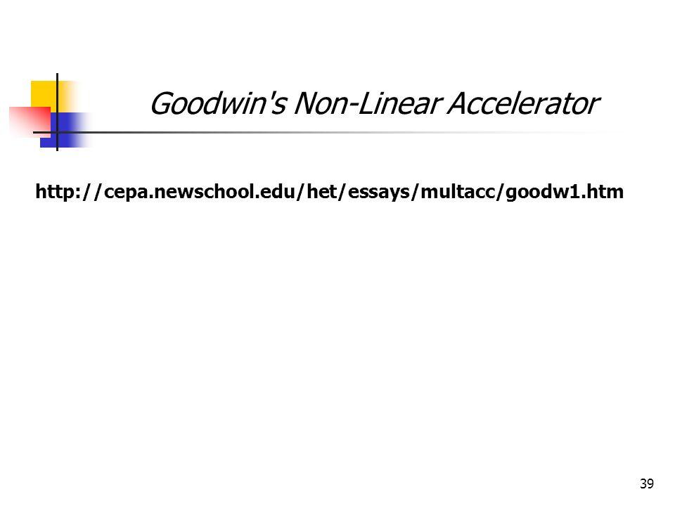 Goodwin s Non-Linear Accelerator